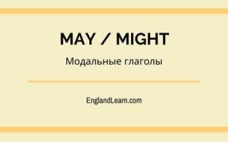 Модальные глаголы may и might с примерами употребления