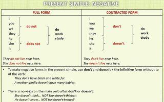 Present Simple – настоящее простое время в английском языке: образование и употребление