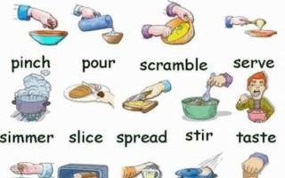 Учим лексику по теме кулинарии