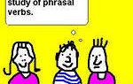 Фразовые глаголы с up, down, out: описание примеров и исключения