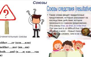Союзы в английском языке: грамматика в таблицах и схемах с примерами использования