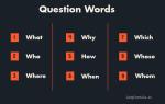 Использование вопросительных слов в английском языке (Question Words)