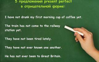 Примеры построения и применения грамматических конструкций Present Perfect