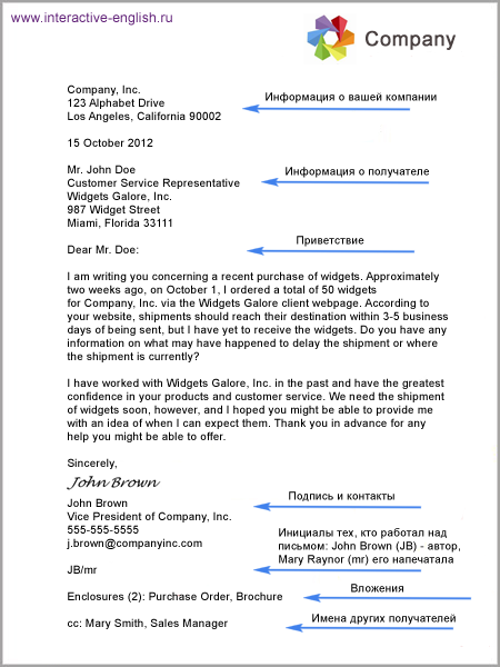 Деловое письмо на английском - оформления, виды корреспонденции и образец письма
