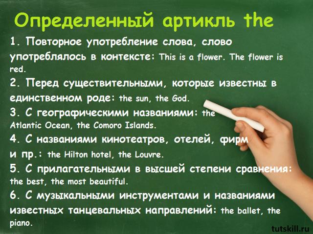 Когда в английском языке ставится артикль the: таблицы, примеры