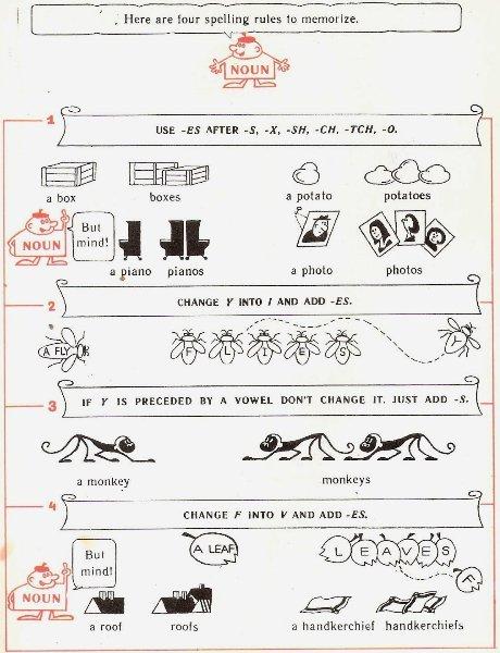 Английские существительные (The Noun): строение, образование, роль в предложении