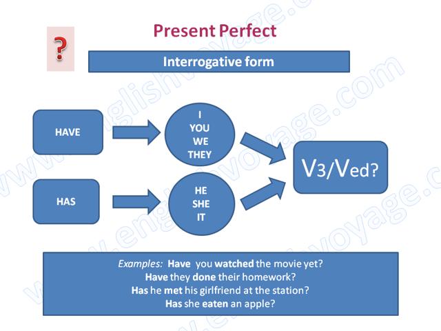 Present Perfect - настоящее совершенное время: образование, формы, употребление