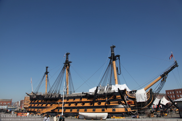 hms victory: корабль-музей в Портсмуте
