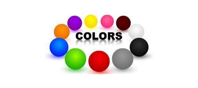Все цвета на английском