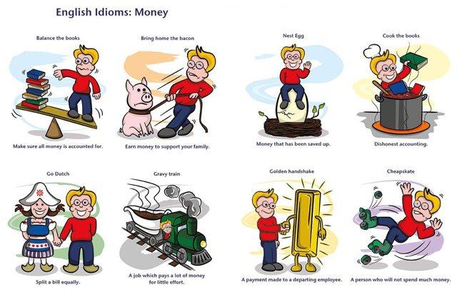 10 самых популярных английских идиом о деньгах