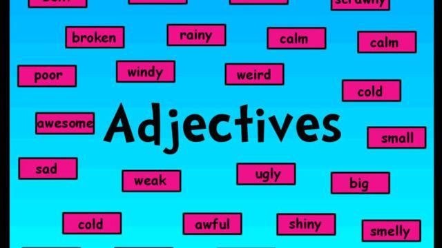 Знакомство с английскими прилагательными